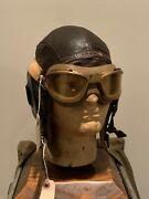 Ww2 Us Army Air Corps Winter Helmet With An6530 Goggles