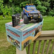 Blue Radio Shack 4x4 Off Roader Rc Monster Truck Ford Vintage 60-4067a W Remote