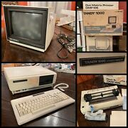 Tandy 1000 Personal Computer W/ Cm-2 Monitor, Keyboard, Dmp 105 Printer And More