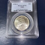 1998-s Kennedy Half Dollar Matte Proof Sms Pcgs Sp70 With Bonus Coin