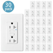 30pcs 15a Amp Gfci Gfi Safety Outlet Receptacle Tamper Resistant Wr W/wall Plate
