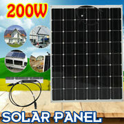 200w Flexible Mono Solar Panel Car Charging System Module Outdoor Camping Hiking
