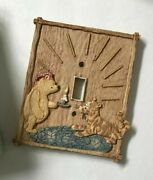 Classic Pooh Wall Switch Plate I Pooh With Candle I Vintage Excellent