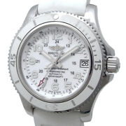 Breitling Super Ocean Ii 36 A17312 Chronometer Automatic White Womens