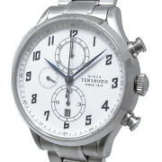 Tenshodo Historical Chronograph Htr02ss Le Automatic White Dial Stainless Mens