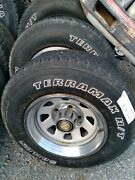 Ford 15 Inch F 150 Wheels Tires Caps And Rings Set Of Four Complete 5 Lug 1980s