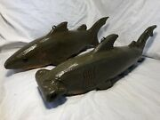 Duluth Fish Decoys Dfd Perkins 18andrdquo Rare Sharks Spearing Decoys Buy Both Or 1