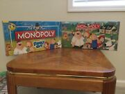 2 Family Guy Monopoly Board Games 2006/2010 Nib Factory Sealed Blowout Sale