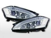 Clear Headlights With Drl Mercedes S Class W221 2005-2009 Prefacelift Sidelights