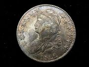 1822 Us Capped Bust Half Dollar 50 Cent Silver Coin Great Toning Looks Xf/ Au
