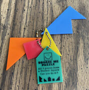Square Me Puzzle Vintage Keychain Key Ring Game - Museum Of Science It's Alive