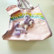 My Little Pony Merchandise Vintage Rare Purse Tote Bag Rubber Horse With Hair