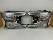 2018 2019 2020 Ford F150 F-150 Full Led Right And Left Headlight Pair Oem