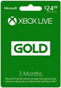 Microsoft 52k-00153 Xbox Live 3 Month Gold Cards Brings 10 Cards