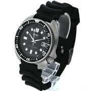 Seiko Second Diver 6105-8110 Automatic Winding Date Black Dial Men's Watch Good