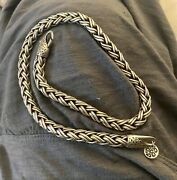 Absolutely Stunning Lois Hill Sterling Silver Heavy Rope Necklace 4.4 Ounces