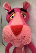 """Vintage 32"""" 1964 Pink Panther Plush Mighty Star Poseable Stuffed Animal"""