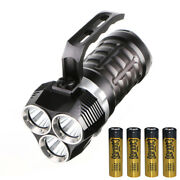 Ultra Brigh Led Diving Flashlight 3 Led Lights Tactical Torch Searchlight Lamp