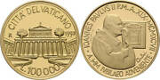 1997 Vatican 100,000 Lire Gold Basilica St. Paul With Coa And Ogp