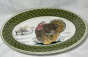 Turkey Platter Vintage Hand Painted Italy By Mancioli For The Walter Hatches