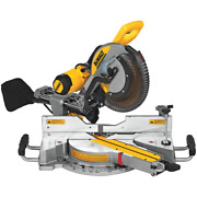 Dewalt 15 Amp Corded 12 In. Double Bevel Sliding Compound Miter Saw W/ Wrench