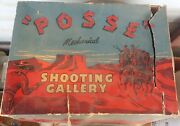 Vintage Wyandotte Posse Mechanical Shooting Gallery With Rough Box