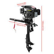 Hangkai Boat Engine 6 Hp 4 Stroke Outboard Motor Air Cooling Gasoline Engine Usa