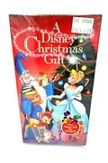 A Disney Christmas Gift Vhs 1996 - New Vintage Factory Sealed W/ Gift Box