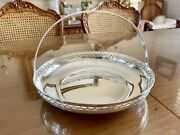 Antique 1902-1907 And Co. Sterling Silver Basket Candy Bowl 402 Grams