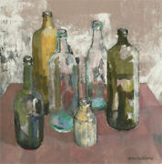 Anne Williams - 20th Century Acrylic, Green And Brown Glass Bottles