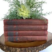 Free Shipping Stack Bundle Lot Of 4 Barn Red Antique 1920andrsquos Hardback Books