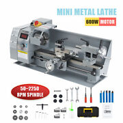 8x14 2500rpm Mini Lathe Benchtop Cutter W 600w Motor For Metal And Woodworking