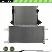 Car Radiator And A/c Condenser For 2011 2012 2013 14 15 16 Ford F-250 Super Duty