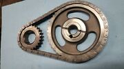 351c 351m 400m Ford Billet Timing Chain Set Aftermarket +4/-4 Settings Used