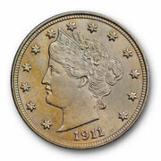 1911 Liberty Head Nickel Uncirculated Ms High End Toned Beauty 2075