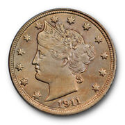 1911 Liberty Head Nickel Uncirculated Ms High End Toned Beauty 7824