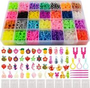 11860+ Rubber Bands Refill Loom Set 11000 Loom Bands 500 Clips 210 Beads