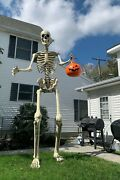 12 Foot Ft Tall Giant Skeleton W/ Animated Lcd Eyes Halloween Prop Ready To Ship