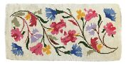 Vintage Hand Made American Hooked Rug Wool Flowers Floral 4and0395 X 2and0392