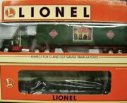 1997 Lionel 6-52117 Lrrc Of St Louis Wabash Flat Car W/rea Tractor And Trailer Set
