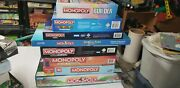 Collection Of Monopoly Board Games