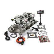 Ford 429 460 Twin Intake Manifold And Dual Fitech Efi 30061 Fuel Injection