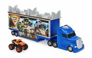 Monster Jam Official 2-in-1 Transforming Hauler Playset With Exclusive 164 ...