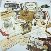 Wine Label Lot Dardagny Switzerland French France Perrier Jouet And Co Vintage