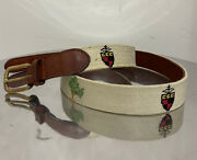 Smathers And Branson Chevy Chase Club Private Crest Logo Golf Belt Size 36