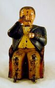 Antique Painted Cast Iron Mechanical Bank Tammany Bank J. And E. Stevens Co.