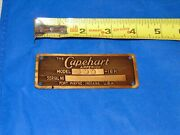 Vintage The Capehart Amperion Model 100 Radio Metal Name Plate Rare