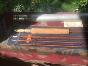 Vintage Heddon 115 Bamboo Fly Rod - 9and039 3/2pc 2f Hdh Or E Sock Tube