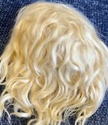 """Antique 10-11"""" Mohair Doll Wig For Antique French Or German Bisque Doll"""