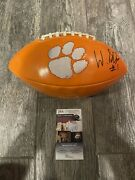 Will Shipley Signed Clemson Tigers Logo Football Jsa Coa Autographed All In